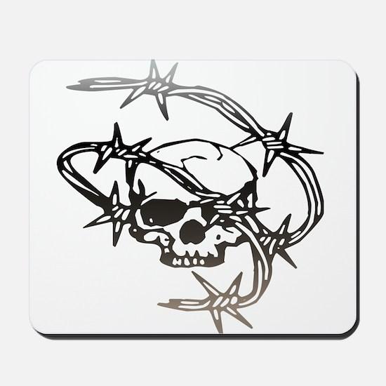 Halloween Barbed Skull Mousepad