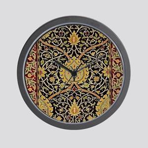 William Morris Persian Carpet Art Print Wall Clock