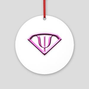 Supermanpink Ornament (round)