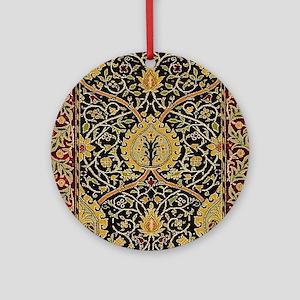William Morris Persian Carpet Art P Round Ornament