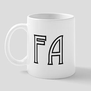 """FA"" Flight Attendant (white) Mug"