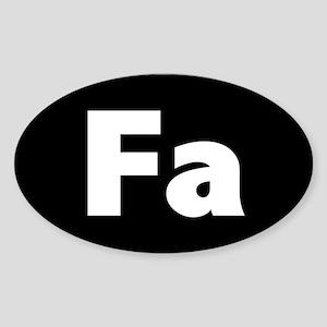 """""""FA"""" (black) Oval Sticker"""