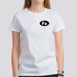 """FA"" (black) Women's T-Shirt"