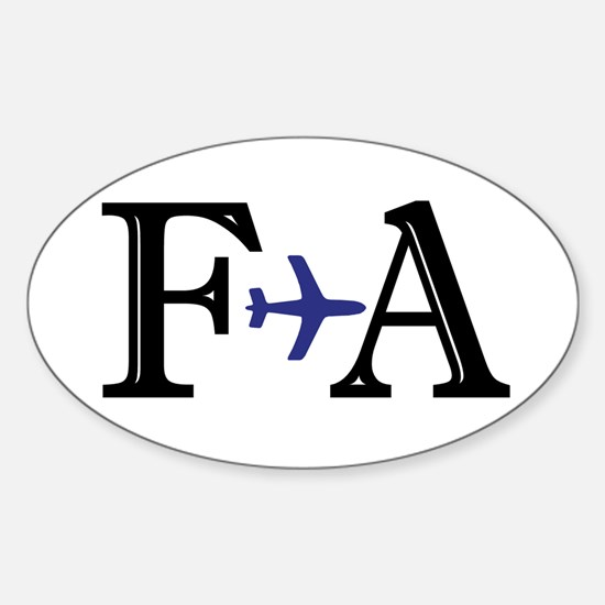 FA Flight Attendant Here to Save Oval Decal