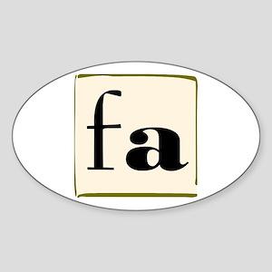 """""""FA"""" Oval Sticker"""