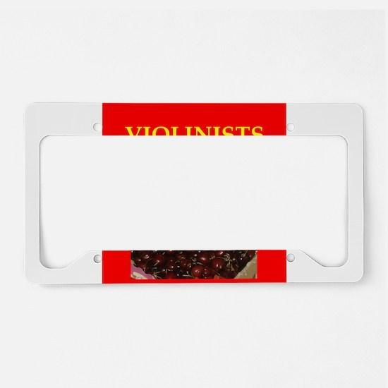 violinist License Plate Holder