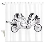 Belgian Bike Shower Curtain