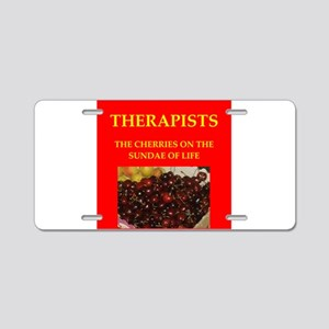 therapist Aluminum License Plate