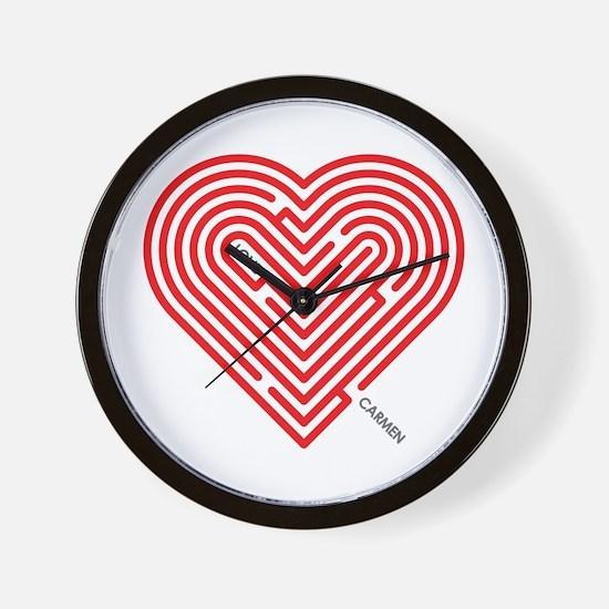 I Love Carmen Wall Clock