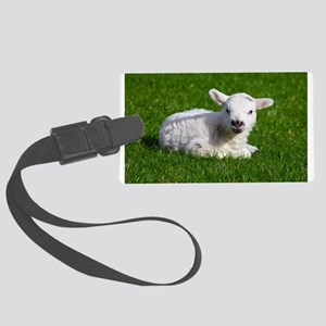 Baby lamb Luggage Tag