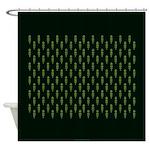 Green as Green Decor Shower Curtain