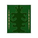 Green as Green Decor Throw Blanket