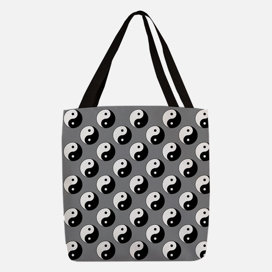 Yin Yang Polyester Tote Bag