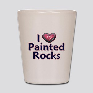 City Painted Rocks Painting Shot Glass