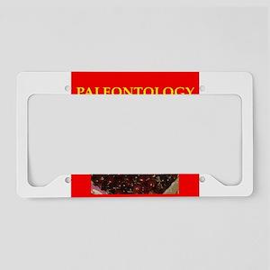 paleeontology License Plate Holder