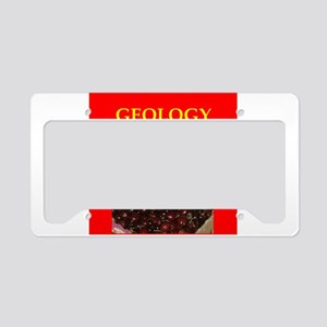 geology License Plate Holder