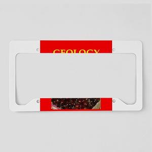 geology License Plate Holder