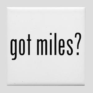 got miles? Tile Coaster