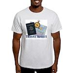 Passport & Compass Ash Grey T-Shirt