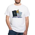 Passport & Compass White T-Shirt
