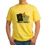 Passport & Compass Yellow T-Shirt