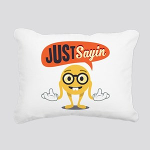 Emoji Just Sayin Rectangular Canvas Pillow