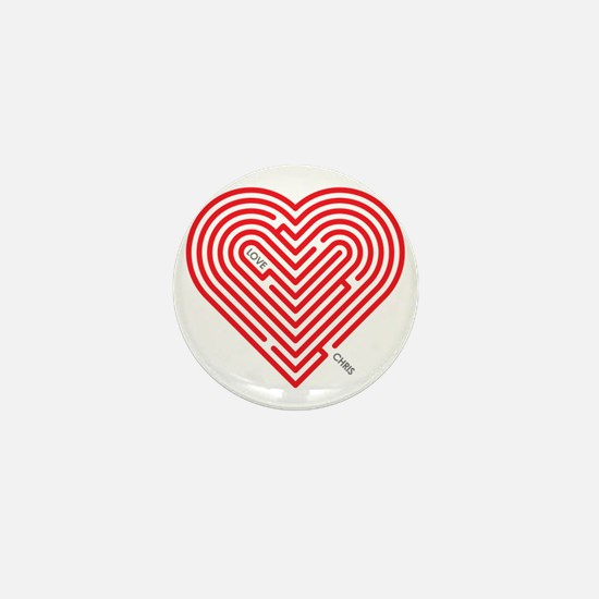 I Love Chris Mini Button