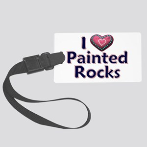 City Painted Rocks Painting Large Luggage Tag