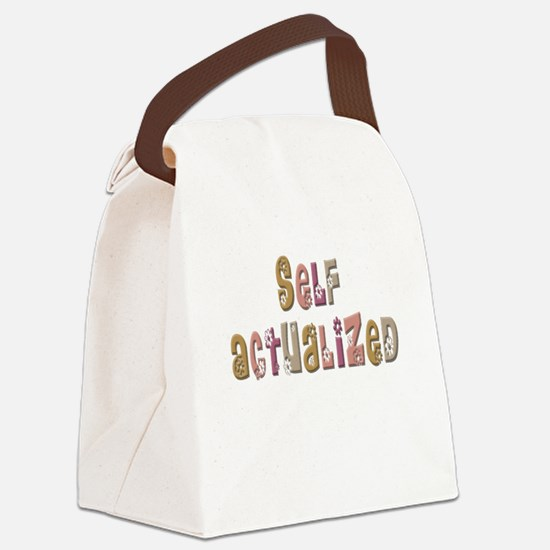 SelfActualizedFloral.psd Canvas Lunch Bag