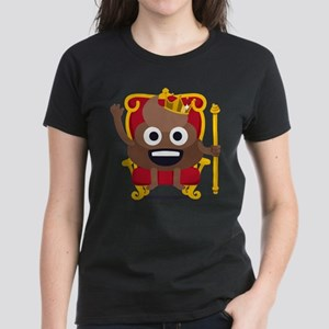 Emoji Poop King Women's Dark T-Shirt