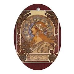 The Zodiac Oval Ornament