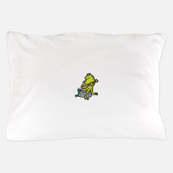 frog playing guitar.png Pillow Case