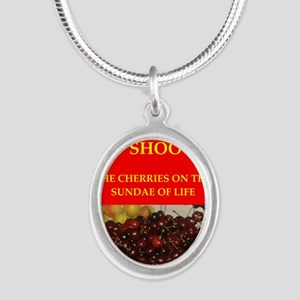 TRAP shooting Silver Oval Necklace