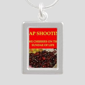 TRAP shooting Silver Portrait Necklace