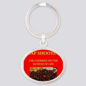 TRAP shooting Oval Keychain