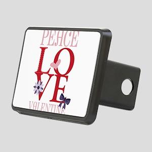 Peace Love Valentine Hitch Cover