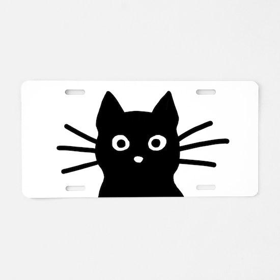 Unique Cat Aluminum License Plate