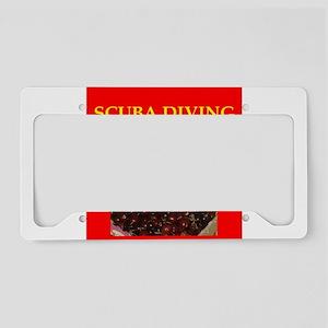 scuba diving License Plate Holder