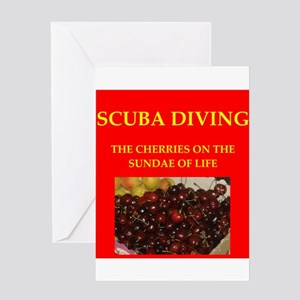 scuba diving Greeting Card