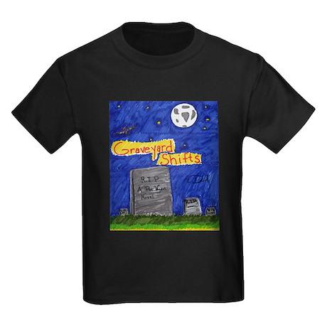 Graveyard Shifts Kids Dark T-Shirt