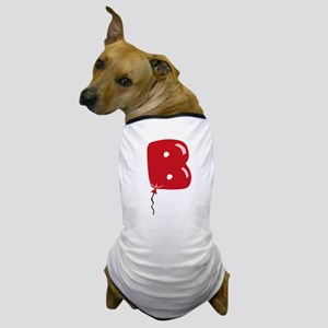 Red Balloon Monogram B Dog T-Shirt