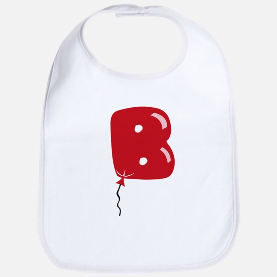 Red Balloon Monogram B Bib