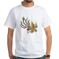 Chinese Phoenix White T-Shirt
