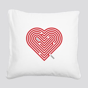 I Love Debbie Square Canvas Pillow
