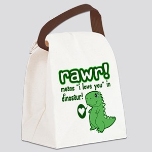 Cute! RAWR Means Love Canvas Lunch Bag