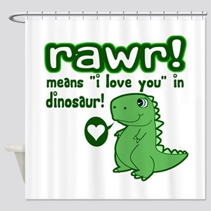 Cute! RAWR Means Love Shower Curtain