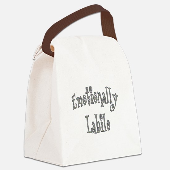 Emotionally Labile Canvas Lunch Bag