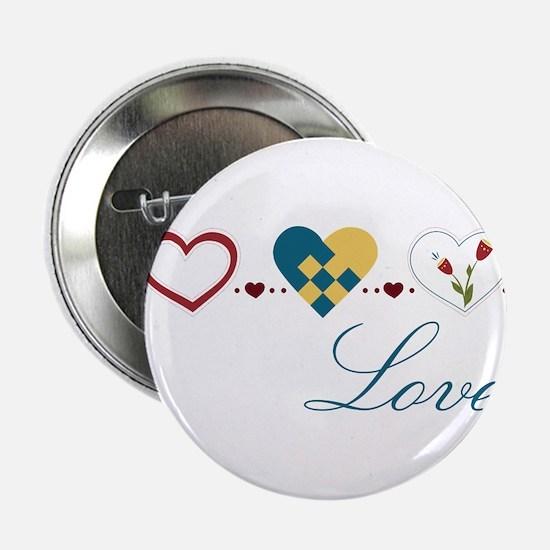 """Scandinavian Hearts 2.25"""" Button"""
