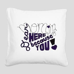 Dear Mom Square Canvas Pillow