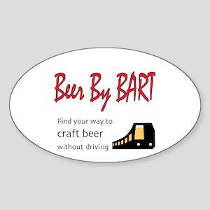 Beer By BART logo w/ beer train Sticker